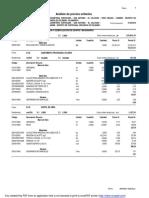 Análisis Costos Unitarios