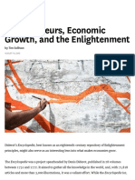 Entrepreneurs, Economic Growth, And the Enlightenment