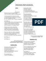 Cancionero Pacifista Personas Refugiadas Intervencionismo
