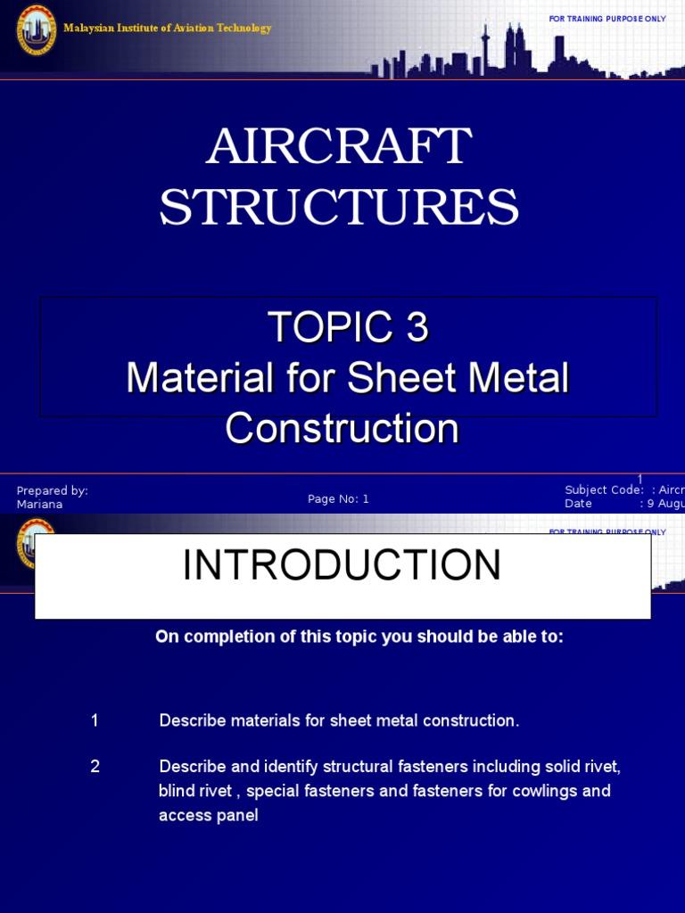 Sheet Metal (Cont) | Rivet | Heat Treating