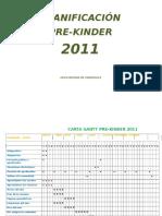 Planificaciones y Evaluaciones Prekinder 2011