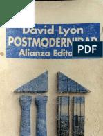 Lyons, David. El Malestar de La Modernidad