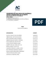 Politca Economica de Guatemala