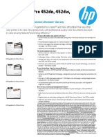HP PageWide Pro 452-552 Printer Series