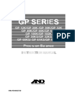 A&D GP Series Precision Balance Instruction Manual