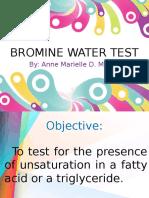 Bromine Water Test