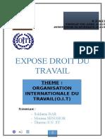 Expose Droit Du Travail