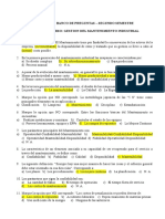 Banco de Preguntas - Gestion Del Mantto II Semestre