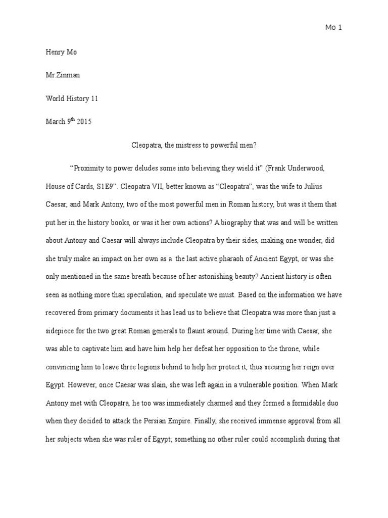 Healthy Eating Essay  Harvard Business School Essay also Thesis In Essay Cleopatra Essay  Cleopatra  Mark Antony Essay Vs Research Paper