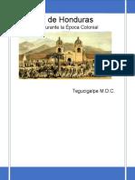 Economia Epoca Colonial -Historia de Honduras