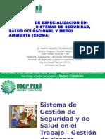 Sistema de Gestión de Seguridad y de Salud en El Trabajo Gestión de Riesgos