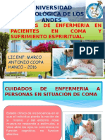 Diapositiva en Cuidados de Enfermeria en Pcinetes en Coma