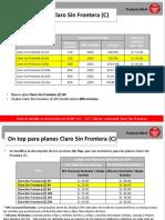HV Mejoras en Plan Sin Frontera - Setiembre I 2016