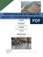 Identificacion de Zonas de Desastres