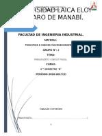Presupuesto y Deficit Fiscal Grupo#2