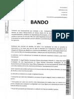 Bando emitido por el alcalde de C's en Malpica de Tajo (Toledo)