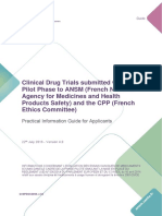 Clinical Drug Trials French National Guidelines