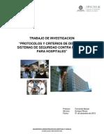 Protocolos y Criterios de Seguridad Contra Incendios