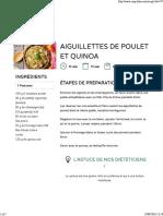 Aiguillettes de Poulet Et Quinoa