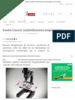 Fondos Conacyt, Multimillonarias IrregularidadesCONTRALINEA.com.MX _ Periodismo de Investigación CONTRALINEA.com