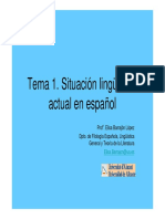 Presentacion_tema1 Lingüística Actual en Español