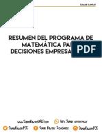 Resumen Programa- Matematica Para Decisiones Empresariales