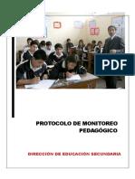 Protocolo de Monitoreo Pedagógico