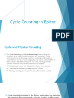 Cycle Counting in Epicor
