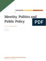 Identity, Politics and Public Policy