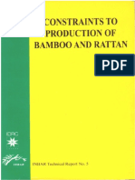 Constraints Production Bamboo and Ratan