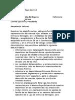 Derecho de Peticion Liga de Bogota