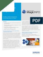 Magicinfo Player s3 Solutionbrief 20151005