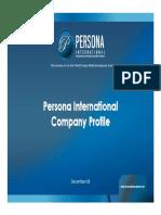 Persona International - Egypt - Company Profile Dec08