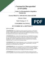 Ley_42_2000 Sobre La Discapacidad en República Dominicana