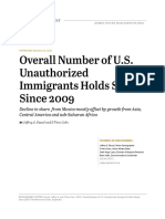 Overall Number of U.S. Unauthorized Immigrants Holds Steady Since 2009