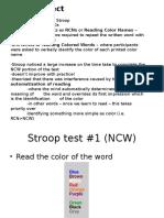 Stroop Lab