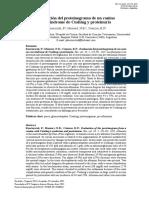 evaluacion del proteinograma de Un Canino Con Sindrome de Cushing y Proteinuria