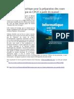 Informatique Pour Tous en Classes Préparatoires Aux Grandes Écoles Wack Conchon Courant DeFalco Dowek Filliatre Gonnord ÉditionsEyrolles