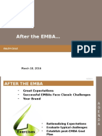 After the EMBA