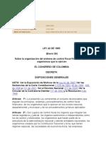Ley 42 de 1993 Nivel Nacional Control Fiscal