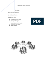 Actores Políticos Sociales    ( Trabajo de sociología de la salud)