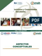 Experiencia Proyecto Familias Comunidades y Municipios Saludables