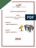 Conclusiones Del Sistema Nacional de Control
