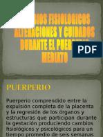 CAMBIOS DURANTE EL PUERPERIO