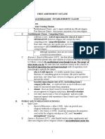First Amendment Outline