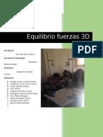 EXPERIMENTO FUERZAS TRIDIMENSIONALES EN EQUILIBRIO