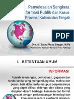 Penyelesaian Sengketa INFORMASI PUBLIK