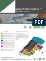 Presentation on Farmington Civic Center renovation