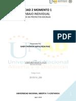 Trabajo Individual - Unidad 2 Momento 1 -Diseño de proyectos sociales