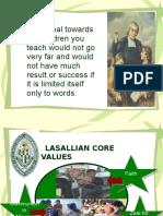 Lasallian Core Values
